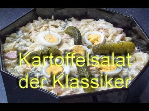 kartoffelsalat der klassiker mit gurke ei fleischwurst und apfel youtube. Black Bedroom Furniture Sets. Home Design Ideas