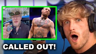 LOGAN PAUL'S REACTION TO JAKE PAUL CALLING OUT CONOR MCGREGOR!