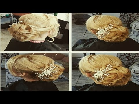 Свадебная прическа на длинные волосы.Греческая коса. Wedding hairstyle for long hair