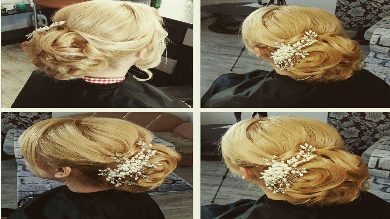 Свадебные причёски ютуб