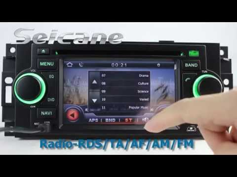 2002 2003 2004 2005 2006 2007 Dodge Dakota P/U Radio DVD GPS Navigation Stereo With Bluetooth MP3