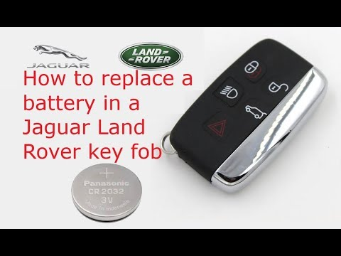 How to change a battery in Land Rover Range Rover key remote
