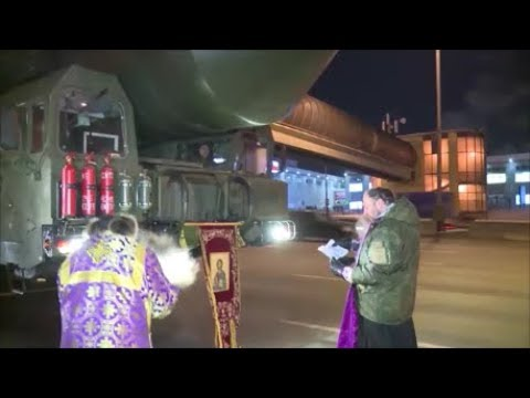 """✝️ """"СВЯТОЙ СЫН САТАНЫ""""👹(Освящение межконтинентальной баллистической ракеты РС-24 «Ярс») на МКАД!"""