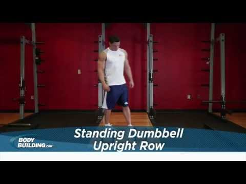 Standing Dumbbell Upright Row - Shoulder Exercise - Bodybuilding.com