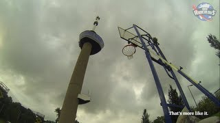 WORLD RECORD 91.1m (293ft) Basketball Shot | Euromast - How Ridiculous