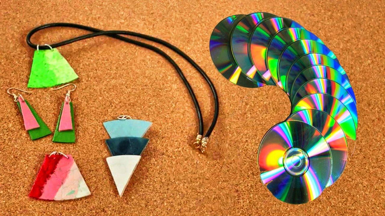 C mo convertir tus cds viejos en hermosos collares - Manualidades con cd viejos ...