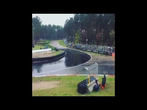 FIA World Rallycross Latvia crash