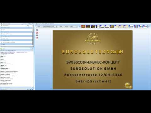 CEO of EURO SOLUTION GMBH  Presentation SwissCoin 100 Coins FREE