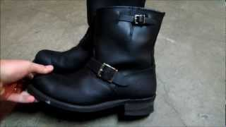 Using Frye 8R Engineer boots for motorcycle boots - Made in USA since 1863