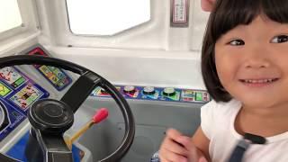リアル ショッピングカート おかいもの & おでかけ 遊園地 バスの運転手ごっこ Shopping Cart & Amusement Park