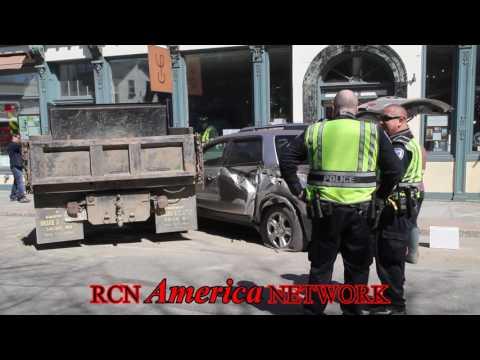 BREAKING NEWS Vehicle Strikes Downtown Building