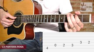 How to Play The Pink Panther on Acoustic Guitar / Very Easy Guitar Lesson /Tutorial TCDG