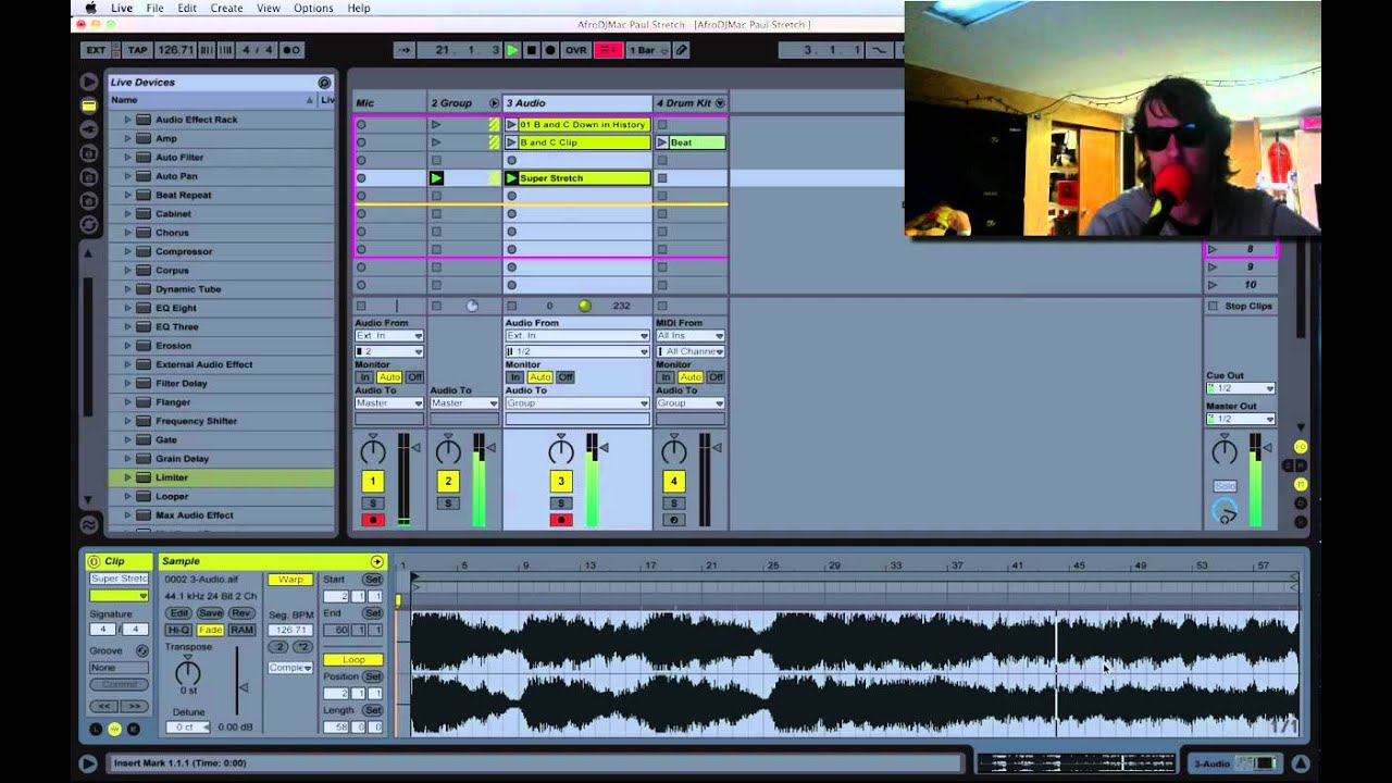 AfroDJMac Paul Stretch Ableton Rack and Tutorial