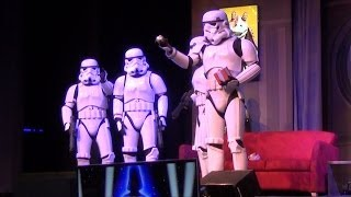 "Star Wars Weekends Stormtrooper Skit before ""Stars of the Saga"" 2014 w/ Song Medley, FROZEN"