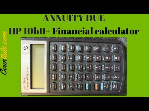 Annuity Due | HP 10BII Plus Financial Calculator