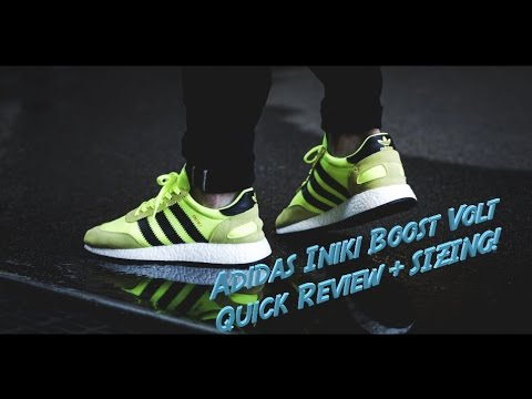 more photos 6ef32 64974 4k Adidas Iniki Boost VOLT Runner Quick Review and SIZING!