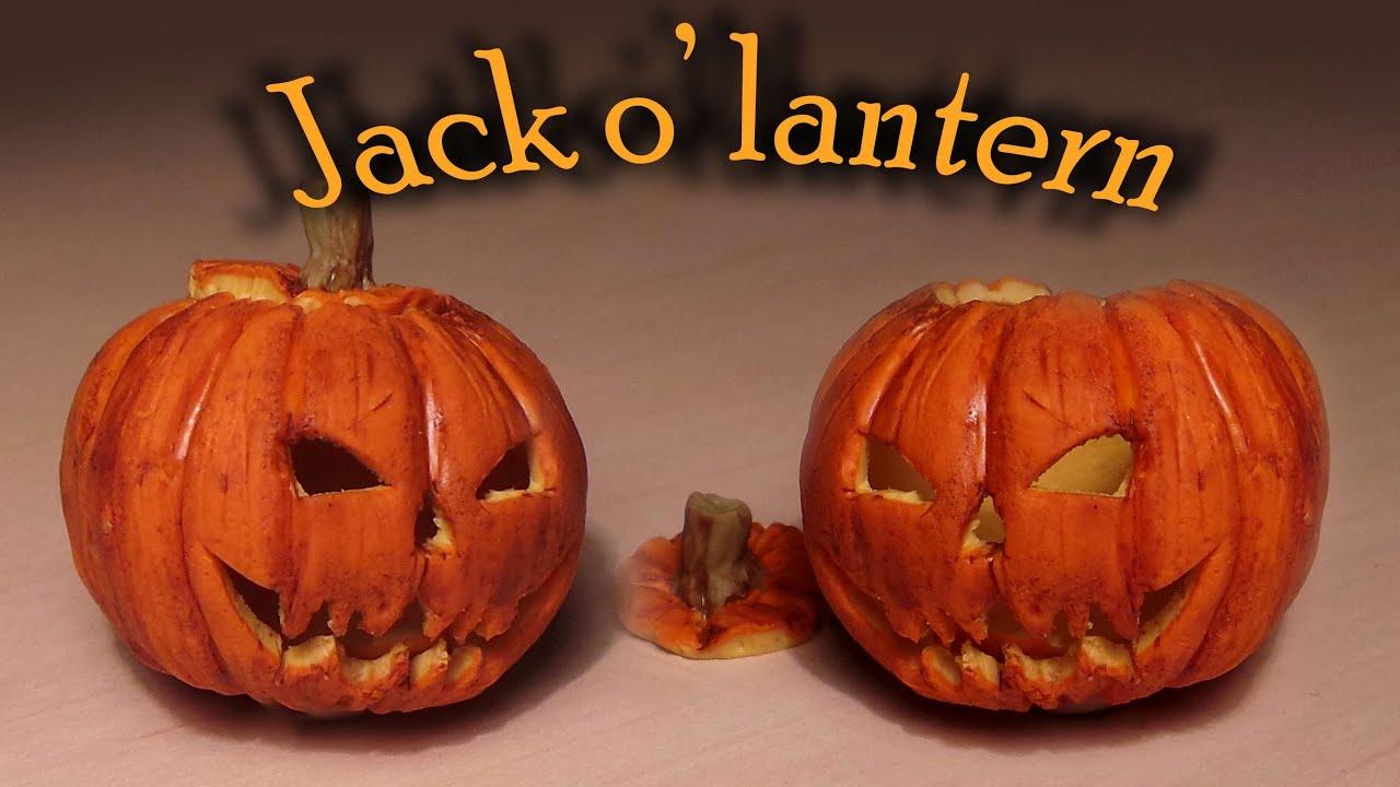 halloween polymer clay jack o u0027 lantern tutorial youtube