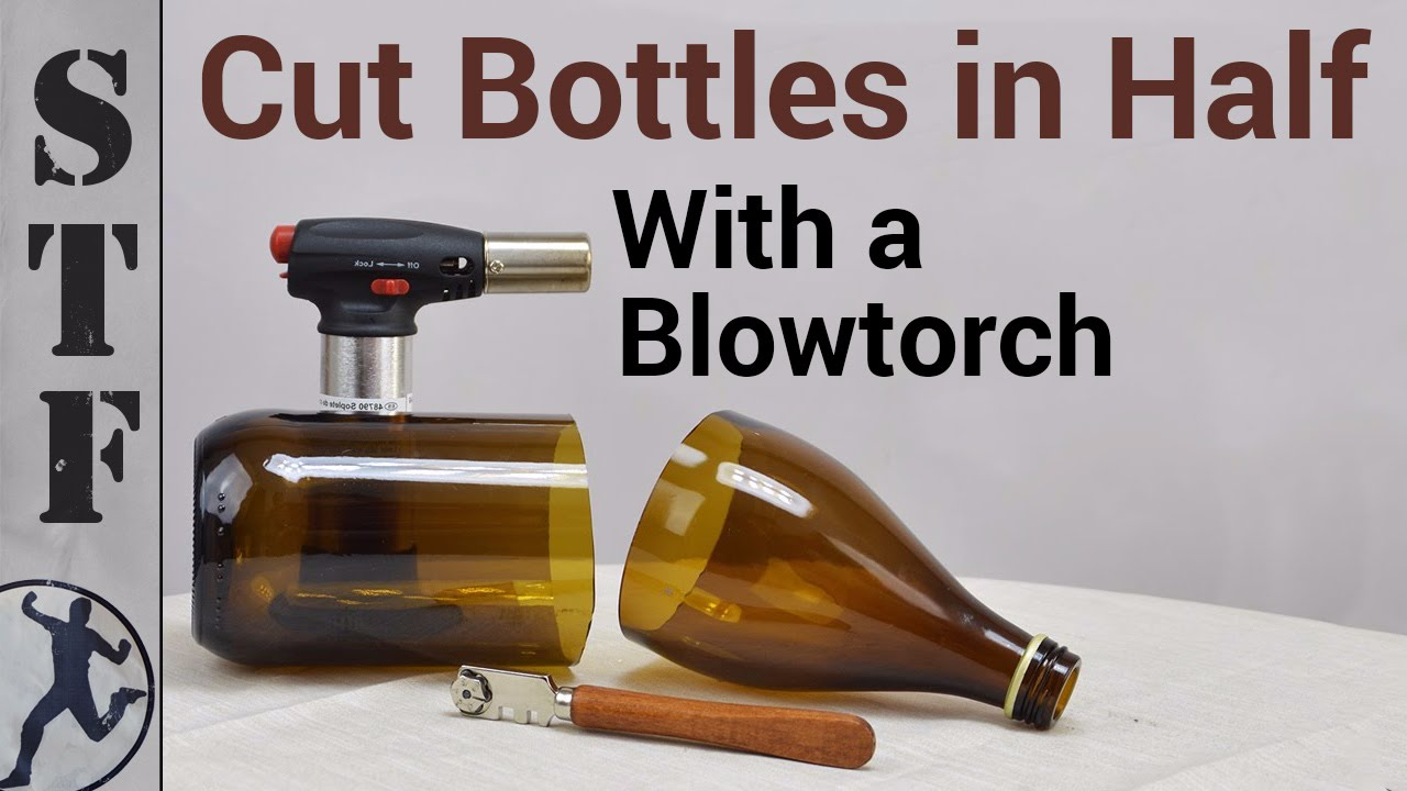 how to cut glass bottles with a blowtorch youtube. Black Bedroom Furniture Sets. Home Design Ideas