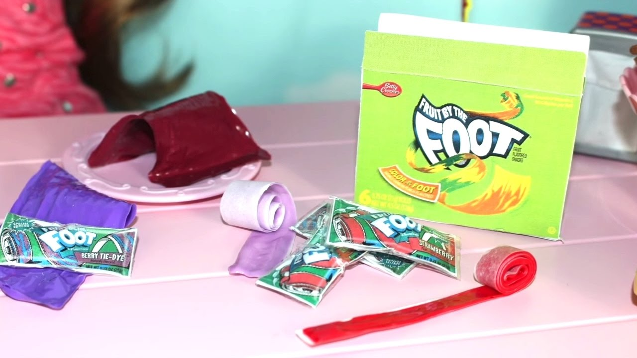 Diy American Girl Doll Fruit Roll Ups Youtube