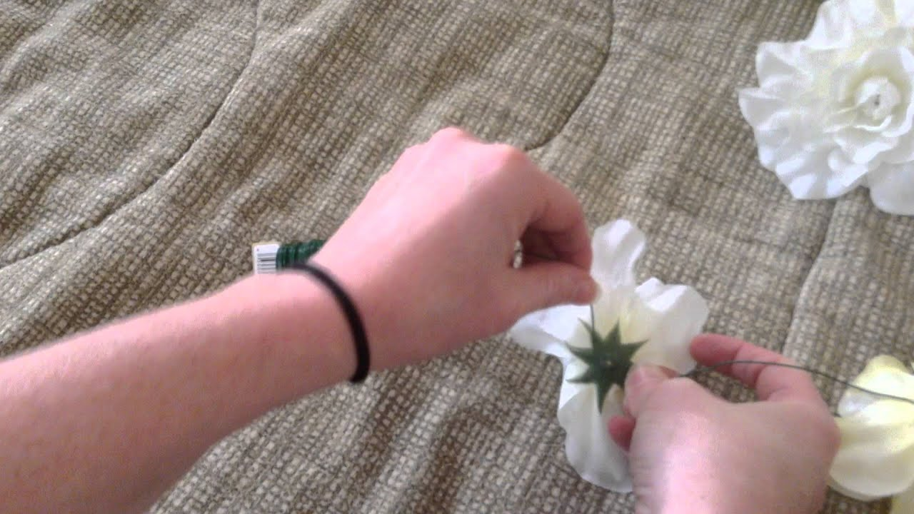 Diy easy silk flower garland youtube izmirmasajfo