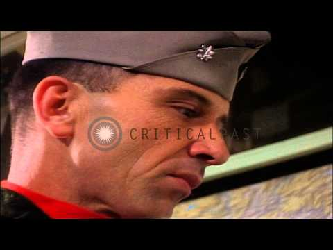Commander James Hill briefs pilots aboard USS Ranger underway in the South China ...HD Stock Footage