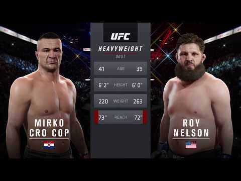 Mirco Cro Cop Vs. Roy Nelson (EA Sports UFC 2) - CPU Vs. CPU