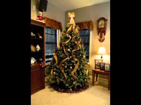 christmas tree ribbon decorating ideas
