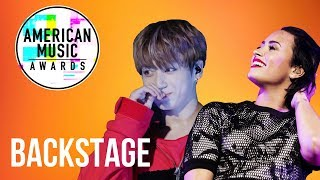 AMA'S BACKSTAGE WITH BTS, DEMI LOVATO, G-EAZY, AND MORE!