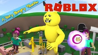 EATEN TWICE BY A VERY HUNGRY PIKACHU | ROBLOX GAME