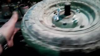 Bog ' wheelbarrows ta'mirlash.Abadiy g'ildirak.CH3.