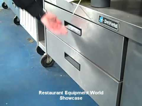 Used Delfield F Freezer Base PARTS ONLY For Sale YouTube - Restaurant table base parts