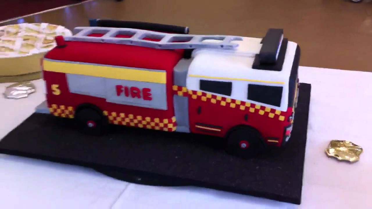 Youtube Fire Engine Cake