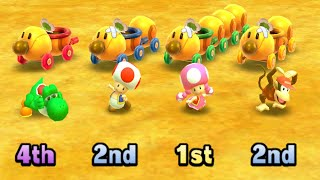 Mario Party: Star Rush MiniGames - Diddy Kong vs Peach vs Wario vs yoshi (Master Cpu)