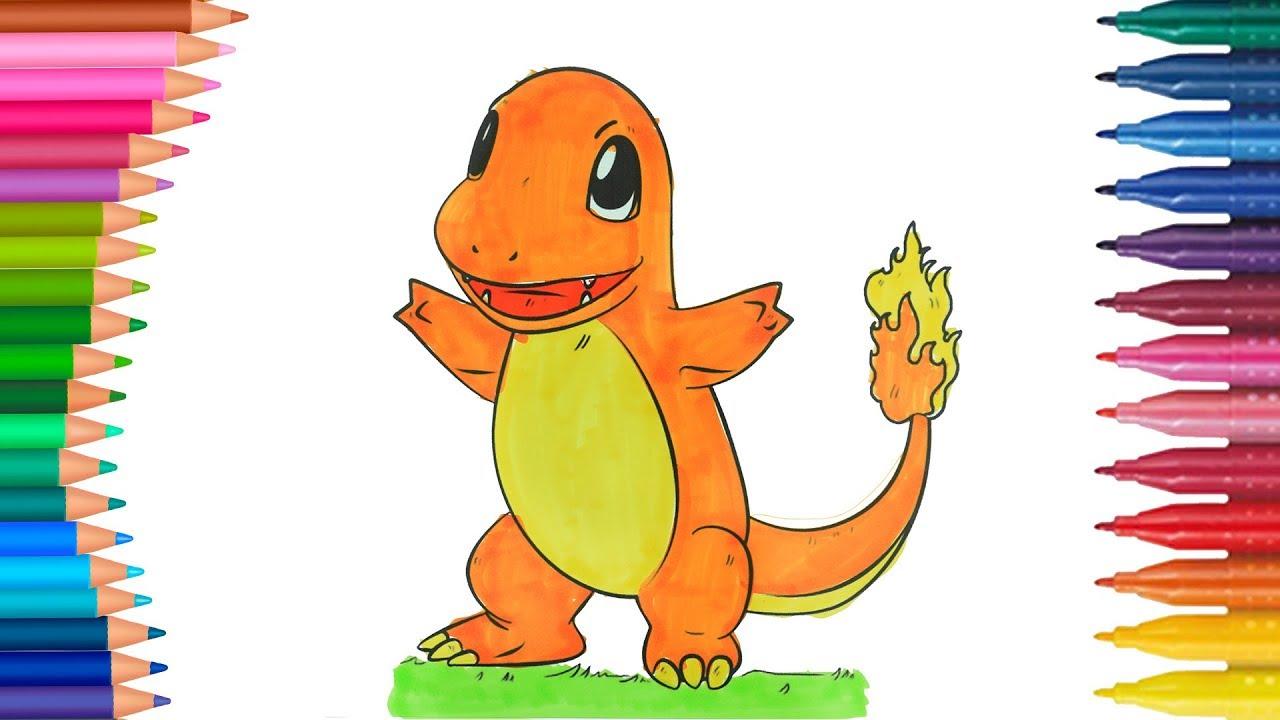 Pokemon Charmander Dibujos Para Niños Learn Colors