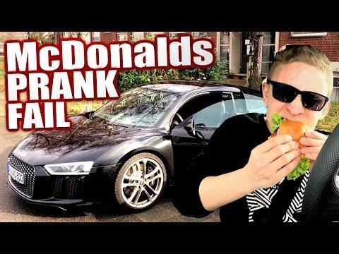 McDonalds PRANK FAIL - AUDI R8 2016 Rich Kid - McDonalds Roulette