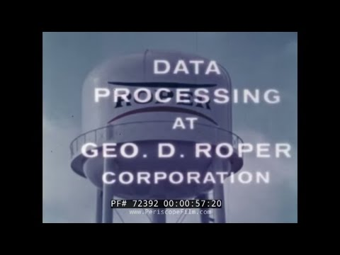 IBM 1401 COMPUTER & DATA PROCESSING FOR THE ROPER CORPORATION 72392