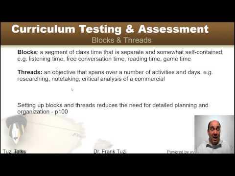 Formatting Presenting in Curriculum Design