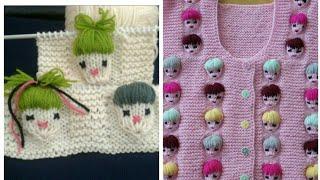 kids face sweater design in hindi (english subtitles ) / kids special knitting pattern /design no 73
