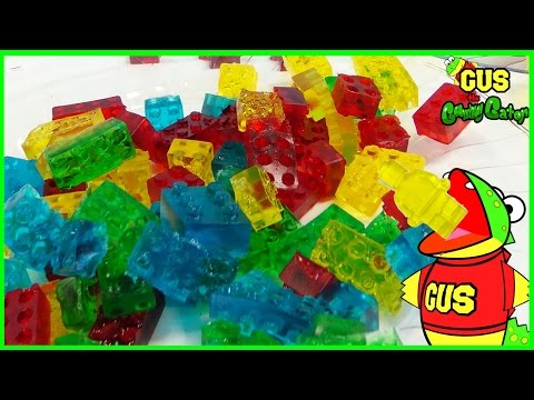 HOW TO MAKE LEGO GUMMY CANDY! DIY homemade jelly gummies