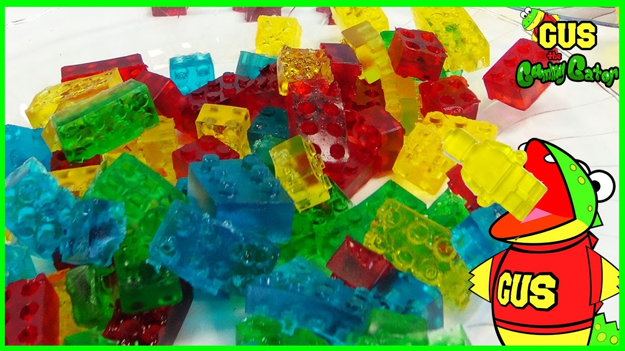 HOW TO MAKE LEGO GUMMY CANDY! DIY homemade jelly gummies ...