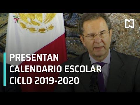 SEP presenta calendario escolar Ciclo 2019-2020 - Paralelo 23