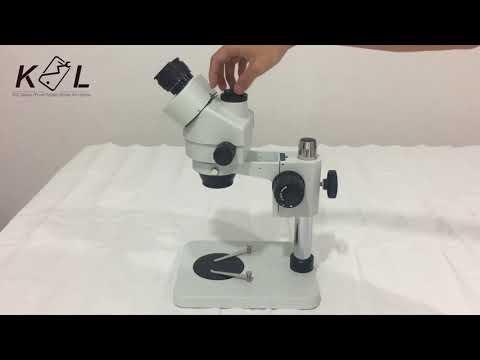 KSL Electronic 7-45X Binocular Trinocular Microscope how to set up the Binocular microscope