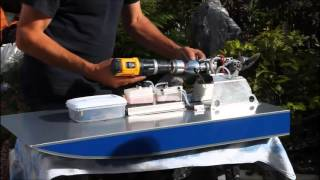 Rc Airboat In-line Engine Test