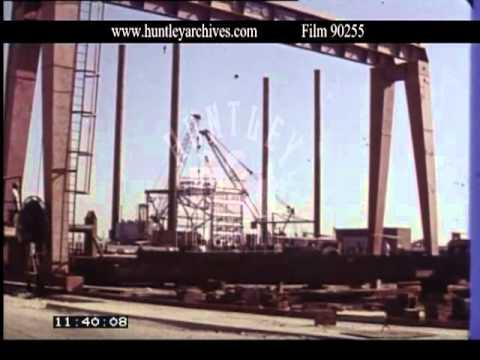 Bahrain Communications, boat repair, industry, 1970's -- Film 90255