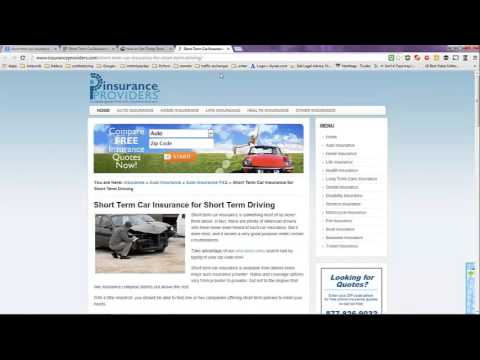 Short Term Car Insurance USA 2016