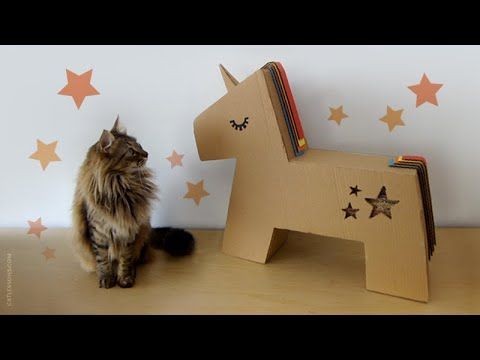 How to Make a Unicorn Buddy for your Cat