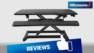 Matrix Large Sit Stand Desk Black Overview Youtube