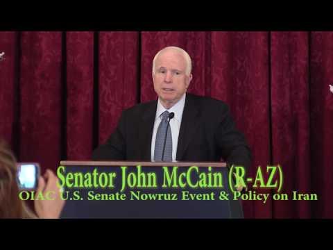 Sen. John McCain Speaks at OIAC Senate Nowruz & Iran Human  Rights and Democracy Briefing.