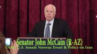 Sen. John McCain Speaks at OIAC Senate Nowruz & Iran Human  Rights and Democracy Briefing. Free HD Video