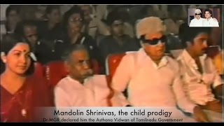 MGR, Jayalalitha, Kamal Hassan at Mandolin Srinivas award Event